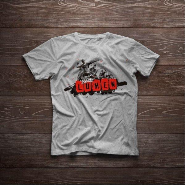 Lumen: Серая туровая футболка