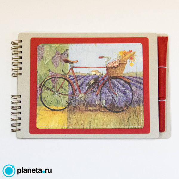 """Скетчбук EcoPad """"Велосипед"""" с шариковой экоручкой"""