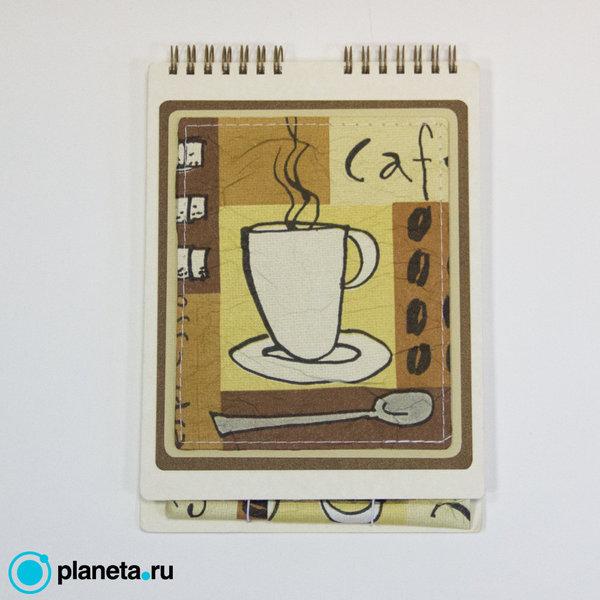 """Скетчбук EcoPad """"Чашка кофе"""" с шариковой экоручкой"""