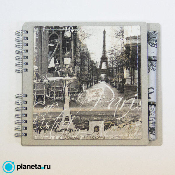 """Блокнот EcoPad """"Париж"""" и шариковая экоручка"""