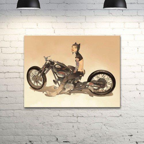 """Настенный постер с рисунком Otto Schmidt """"Cat Biker -1"""""""