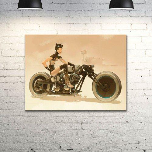 """Настенный постер с рисунком Otto Schmidt """"Cat Biker -2"""""""