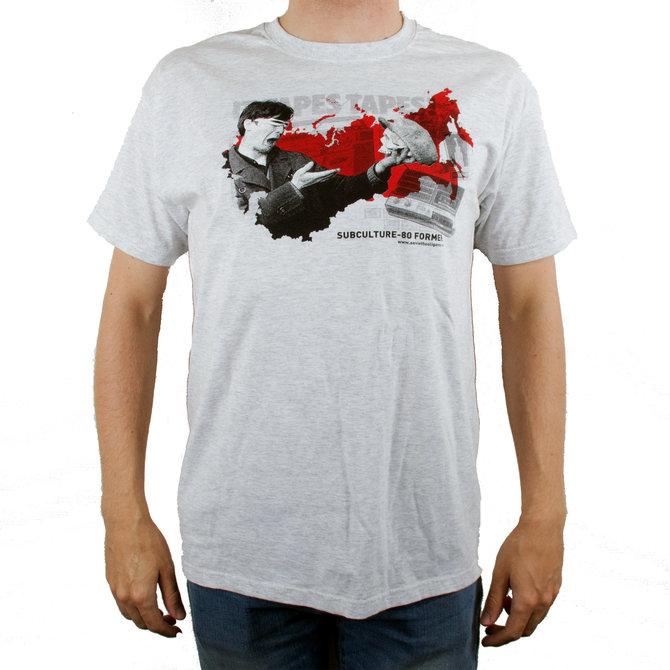 "Серая футболка ""Subculture-80 former"" от Миши Бастера"