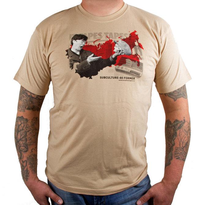 """Бежевая футболка """"Subculture-80 former"""" от Миши Бастера"""