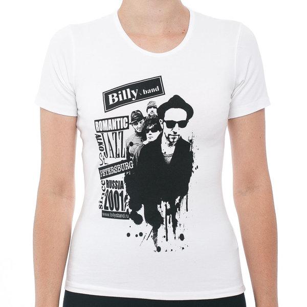 Женская футболка «Billy's Band» Romantic Alco Jazz с группой