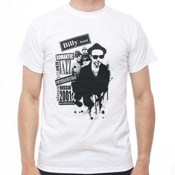 Мужская футболка «Billy's Band» Romantic Alco Jazz с группой