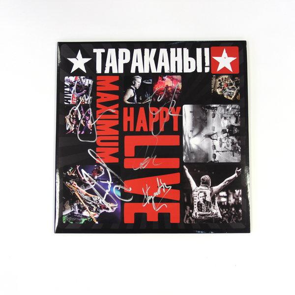 """«Тараканы!» - 2LP альбом """"Maximum Happy Live"""" с автографами музыкантов"""