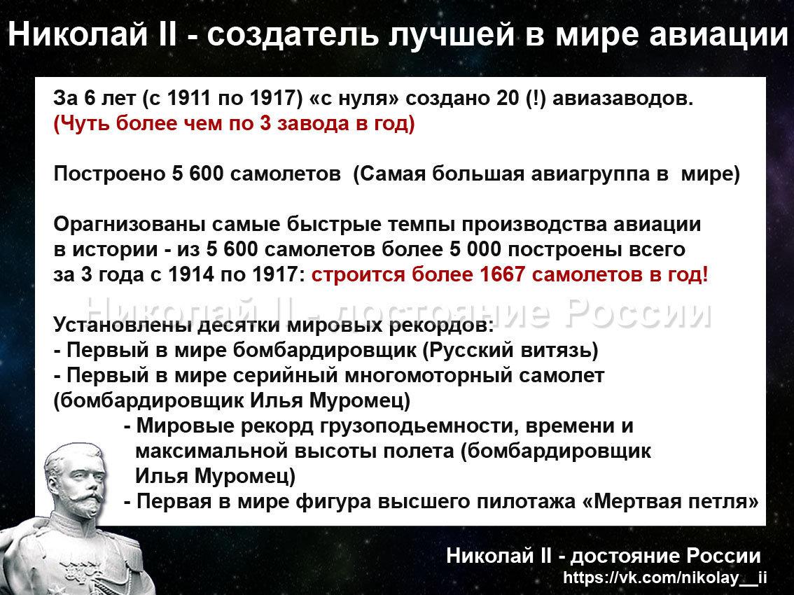 Николай 2 создатель лучшей в мире авиации