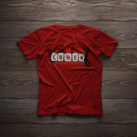 Lumen: красная туровая футболка