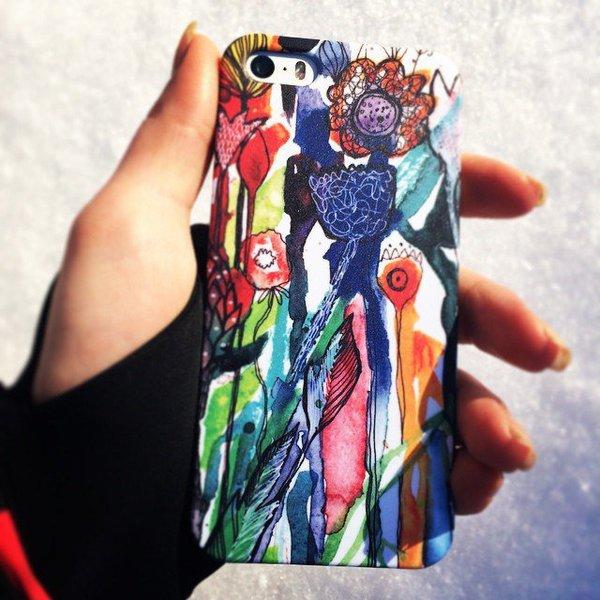 """Чехол на мобильный """"Цветы"""" от Аси Масловой"""